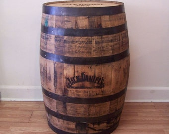 Whiskey Barrel Authentic Branded and Laser Engraved Whiskey Barrel