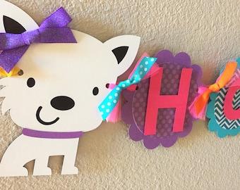 Puppy Dog Birthday Party Banner