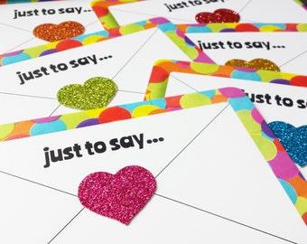 Rainbow Postcard Set - Happy Mail Positive Postcards - Thank You Cards