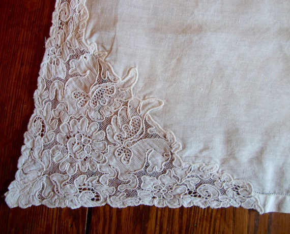 White french doily centerpiece lace detail antique