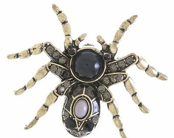 Metal SPIDER ACCENT BROOCH