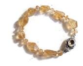 Citrine Bracelet - Yellow Jewelry - Sterling Silver Jewellery - Gemstone - Fashion - Beaded