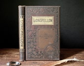 Antique book Longfellow Illustrated, Complete Poetical Works