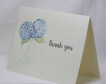 OOAK Handpainted Thank You Greeting Card