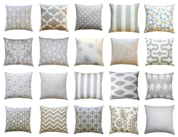 Euro Sham Storm Grey Pillow Cover 26x26 by ModernalityHomeDecor