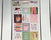 Carpe Diem- The Reset Girl Insta Quote Stickers (8- 4X6 shts) by Simple Stories, Snap product, A5/mini planner, scrapbooks, card making