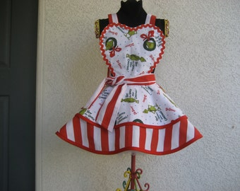Girl's Grinch Stole Christmas Apron