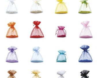 Organza Bags Jewelry Pouch Set of 50