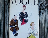 Vogue 9055 1950s 50s Shawl Stole Cape Vintage Sewing Pattern Size Small Bust 31-32
