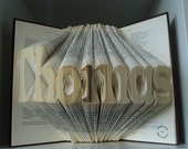 Personalized Folded Book Art with your Name or surname-book origami-Name plaque-name signs