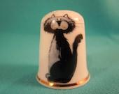 Thimble Bone China with Cat