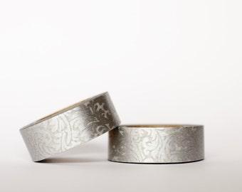 Silver Damask Washi Tape