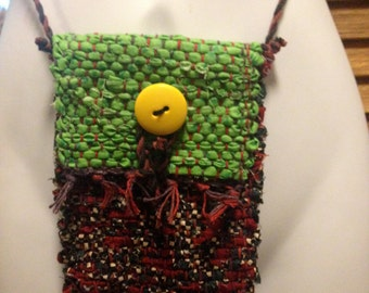 One of a Kind Hand Loomed Crossbody Messenger cellphone bag SALE