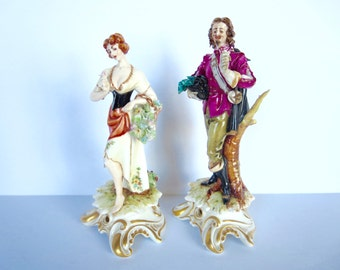 Vintage Italian Figurines Signed L. Motta - Courtin Couple Figurines - made in Italy - Works of Art Italy