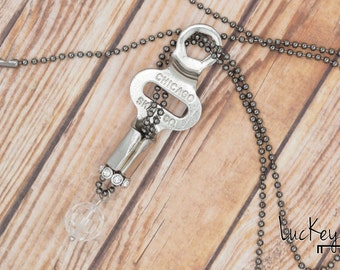 Roller Skate Necklace, Skater Necklace, Skate Jewelry, Skate Key Necklace, Upcycled Jewelry, Upcycled Necklace, Key Necklace, Key Jewelry