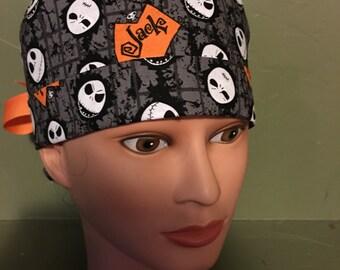 Halloween  ponytail scrub cap