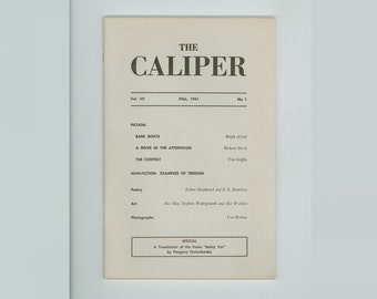 Yevtushenko. The Caliper Fall 1961 , Literary Journal Colgate University With a Poem by Yevgeny Yevtushenko, Translated from the Russian