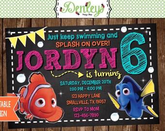Nemo and Dori Invitation, Nemo Party, Dori Party (FN02)