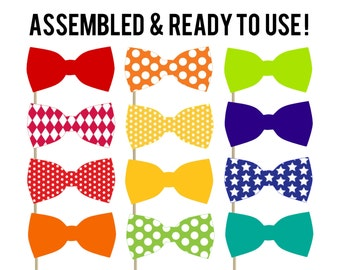 Bow Tie Photo Booth Props . Set of 24 . Photo Props . Wedding Props . Engagement Photo Props . Little Man Party
