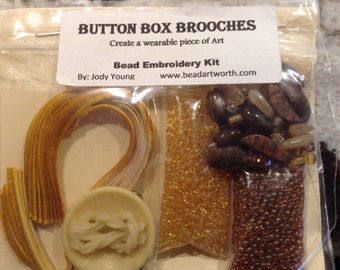 CLOSE-OUT Button Box Beading Kit