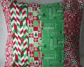 Christmas Patchwork  Pillow Cover