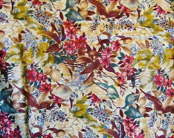 Cotton Fabric, Hoffman of California, called Water Colors, Floral Screen Print, Sewing Fabric, Quilting Fabric, over 4 yards