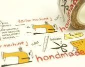 Handmade Tailor - Japanese Washi Masking Tape - 25mm wide - 11 yards