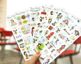 Translucent Sticker Set - Odong et Valerie - North Europe Sticker - 6 Sheets