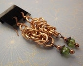 Chainmaille Earrings (Copper)
