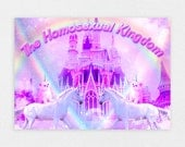 "The Homosexual Kingdom 8"" x 10"" Space Cat Print - LGBT Rainbow Cats Kitten Pastel Kawaii Gay Pride Space Cat Laser Cat"