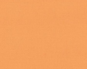 Orange Solid Fabric - Amelia Apricot Bella Solids by Moda - One Yard