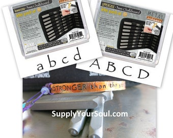 3mm Chalkboard Alphabet Stamps, Beadsmith Metal Stamps, Choose Uppercase, Lowercase or Both