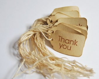 30 Thank You miniature xs Coffee stained vintage inspired favor gift tags. primitive. rustic. wedding. scrapbooking