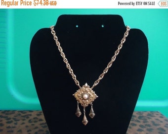 NOW ON SALE Vintage Retro Collectible Necklace 1940's Art Deco Coro Designer Signed Jewelry Old Hollywood Glam