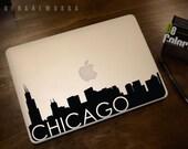 Chicago Skyline Macbook Decal 3 | Macbook Sticker | Laptop Decal | Laptop Sticker | Car Sticker