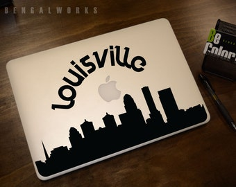 Louisville Skyline Macbook Decal 2   Macbook Sticker   Laptop Decal   Laptop Sticker   Car Sticker
