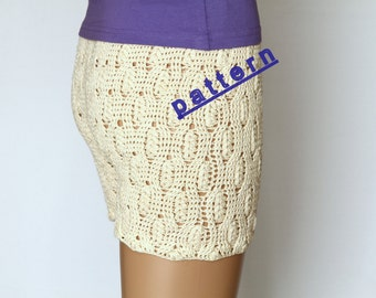 Crochet shorts pattern PDF Tutorial Pattern Shorts  pattern Girls shorts pattern Pants pattern Lace shorts pattern summer shorts