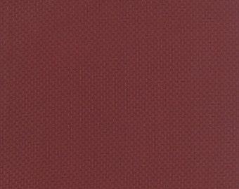MARDI GRAS SALE moda fabric by 1/2 yard Miniature Primitive Gatherings-tiny triple dots on rhubarb red 1156-15