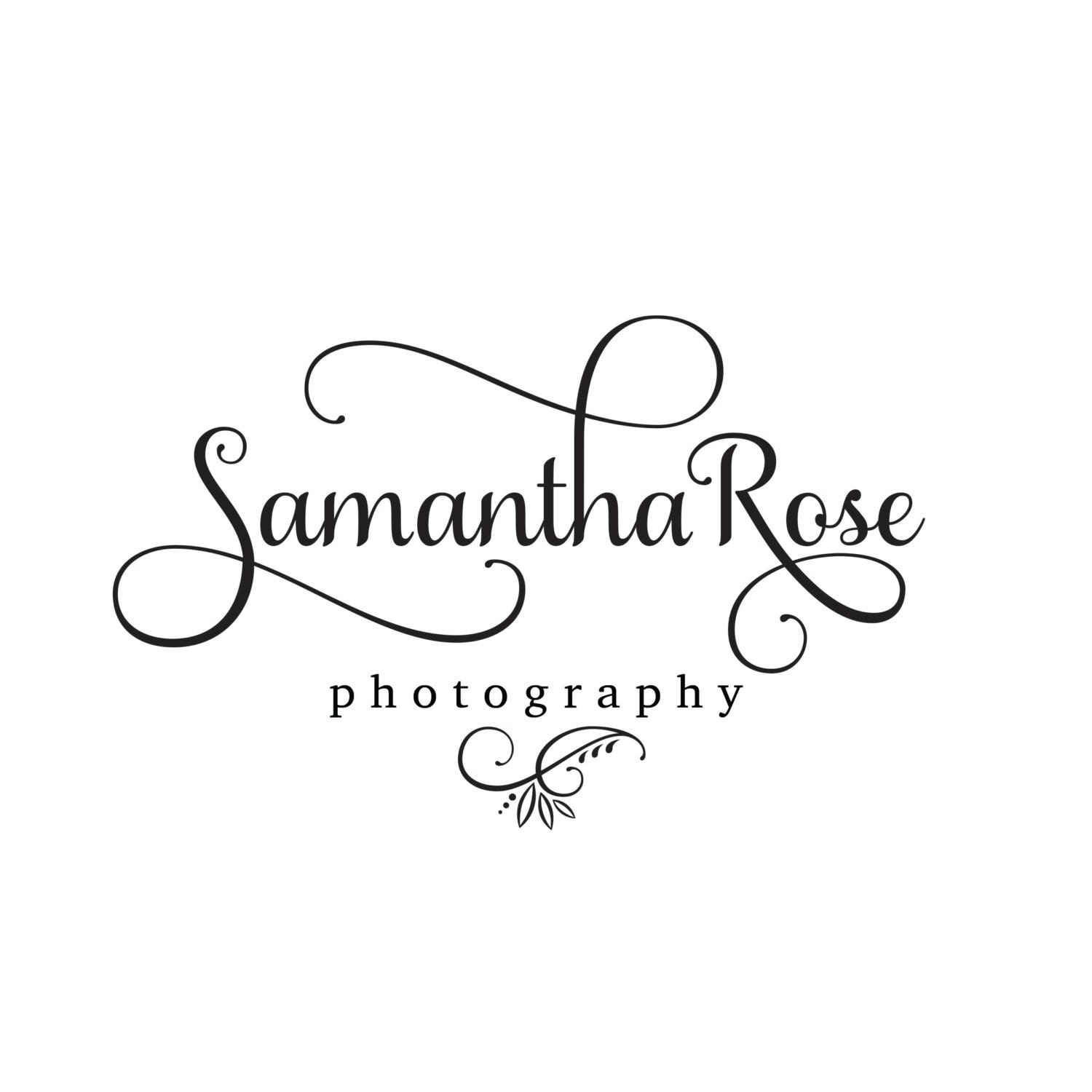 Premade logo calligraphy logo small boutique logo sleek Calligraphy logo