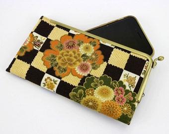 iPhone SE Purse, Galaxy S7 Case, Framed Phone Cover, Chrysanthemum Light Ocher