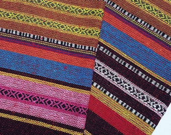 Thai Woven Fabric Tribal Fabric Cotton Native Fabric by 1/2 yard Ethnic fabric Aztec fabric Craft Supplies Woven Textile 1/2 yard (WF88)