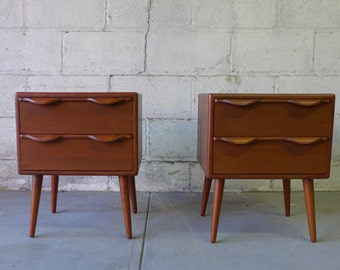Mid Century Modern TEAK NIGHTSTANDS end tables