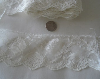 """Lace Trim In Off White In Yellowish Shade 3"""" Wide."""