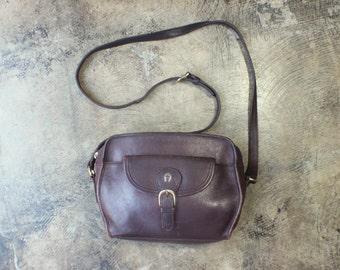 Oxblood Leather PURSE / Vintage Cross Body Bag / Classic Style Handbag