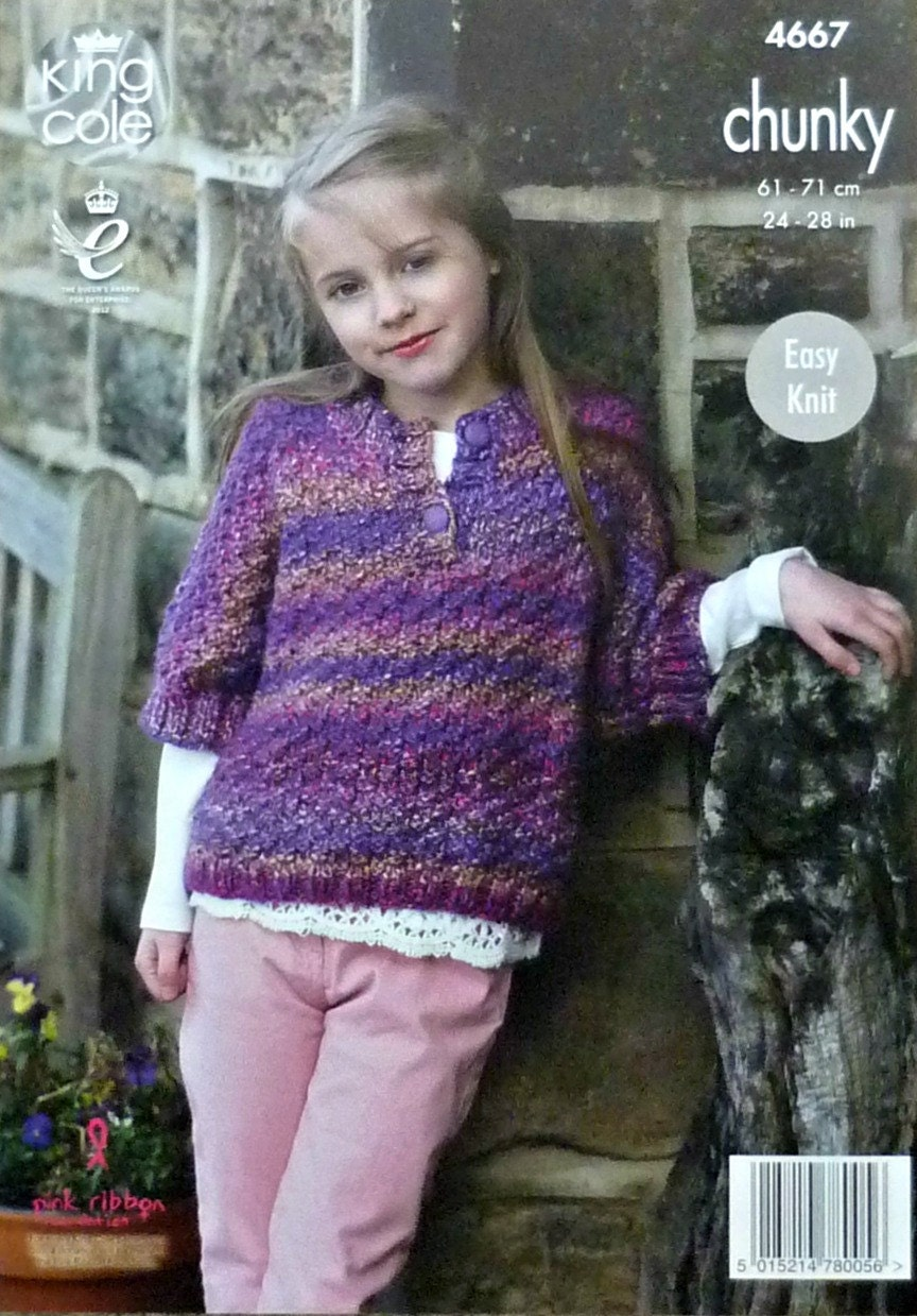 Knitting On The Net Buttonhole : Girls knitting pattern k easy knit short sleeve