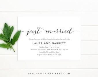 Printable Post-Wedding Brunch Invitation