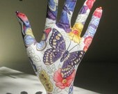 Antique Butterfly Fabric Hand Jewelry Display REGULAR Style HAND-Stand