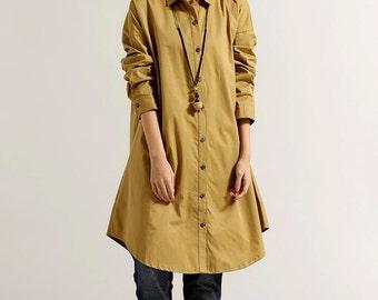 Women Loose Fitting Soft comfortable Cotton Long Shirt