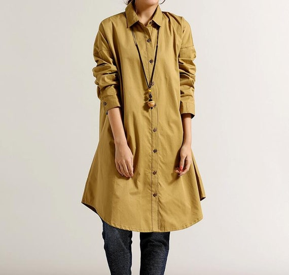 Women Loose Fitting Soft comfortable Cotton Long Shirt