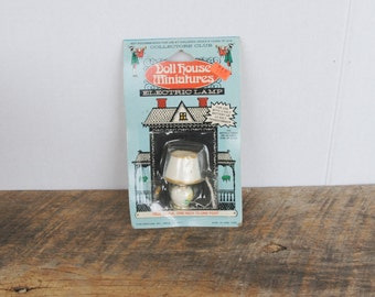 Vintage Doll House Miniatures Electric Lamp Collectors Club Star Creations Inc.